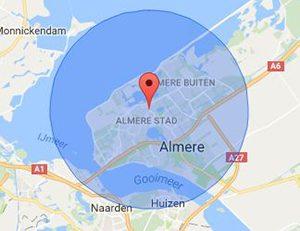 werkgebied slotenmaker Almere